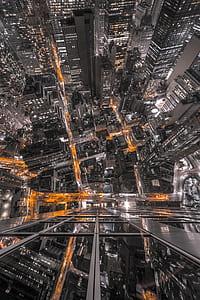 birds eye photo of concrete buildings
