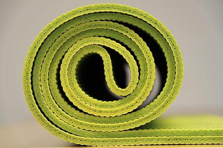 green fabric mat