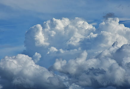 bird's eye photo of white clouds