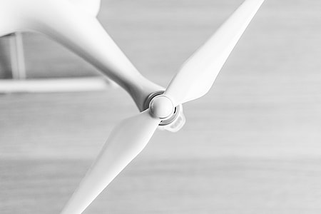 Drone UAV Quadcopter Propeller Close Up