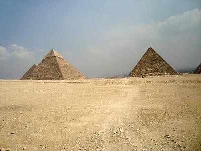 brown pyramids