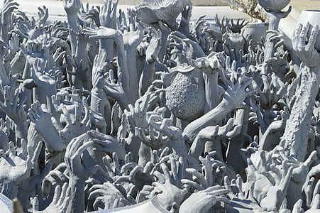 human hands statue