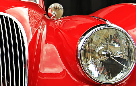 Red and Silver Car