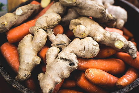 Ginger with carrots
