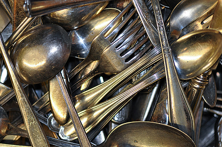 stainless steel spoon and fork lot