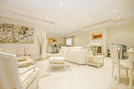 white living room set