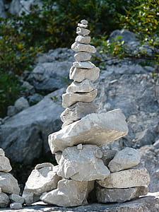 stack of grey rocks
