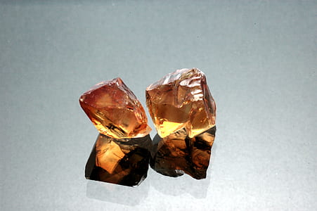 two brown crystal quarts