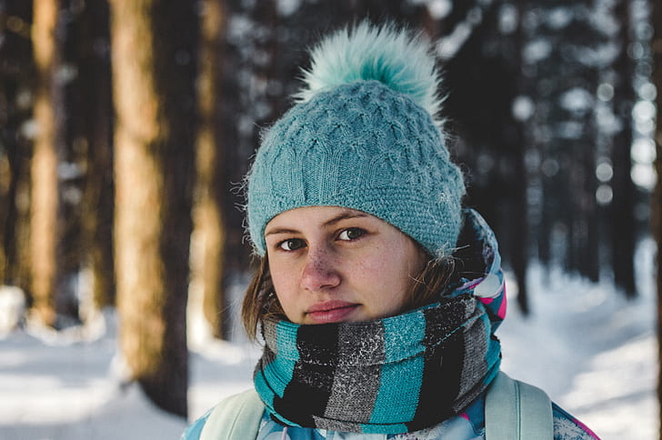 Woman Wearing Blur Sweater Set