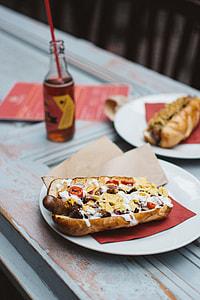 Awesome beef hotdog