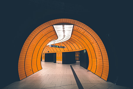 brown and black painted tunnel