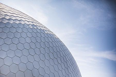 Minimalistic Architecture Design and Blue Sky