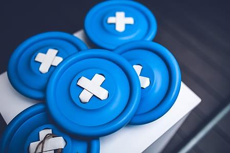 Big blue buttons