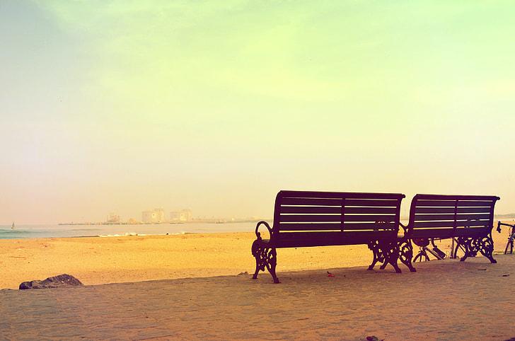 Beach Benches Summer