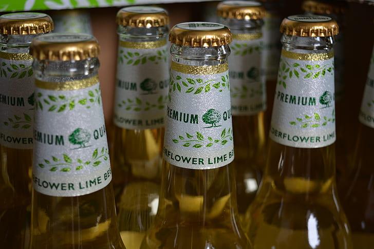 Flower Lime Beer Bottle