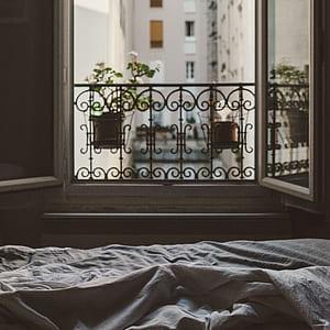 photo of casement window is open