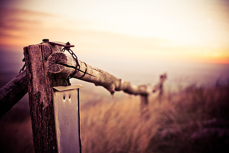 Natural Wooden Fence on Mountain Trail