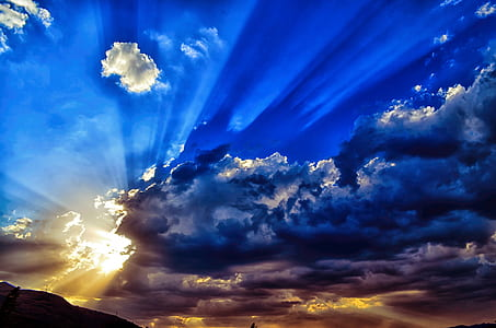 blue sky with clouds during sunrise