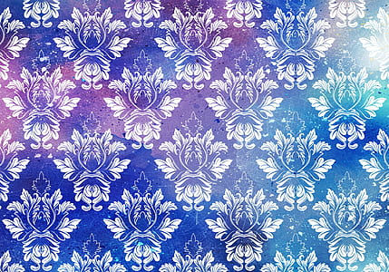 blue and white textile
