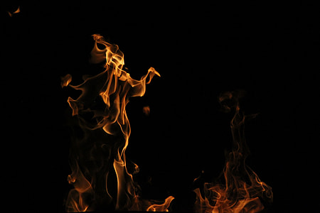 brown flame on black background