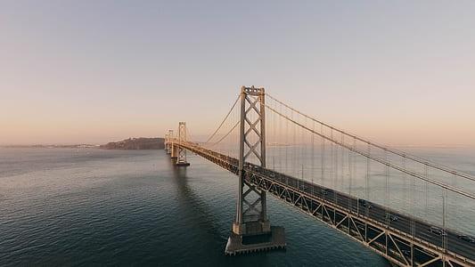 photo of Bridge under grey clouds