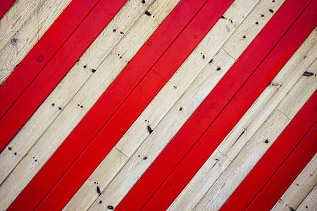 white and red wooden panel