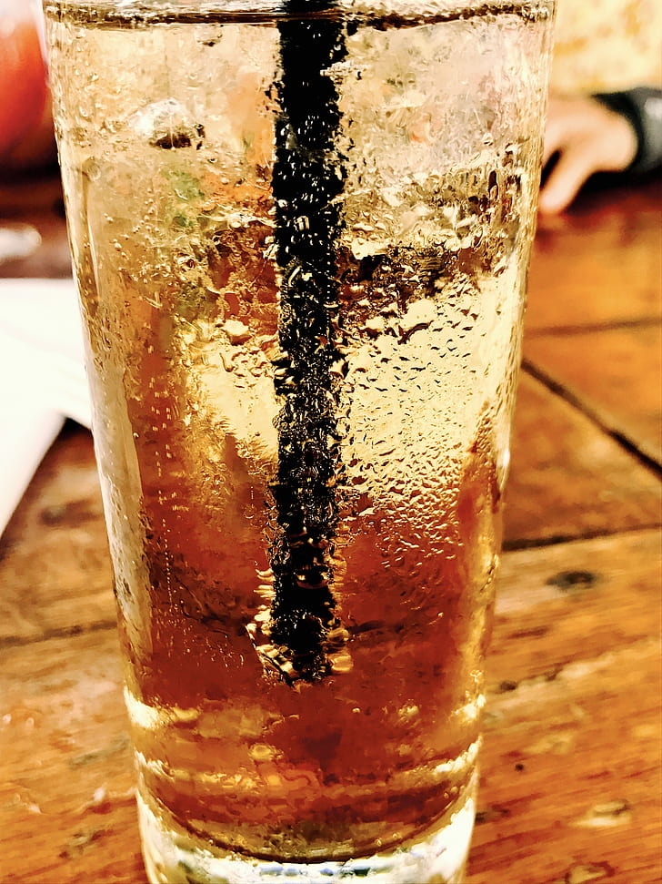 Wet Drinking Glass