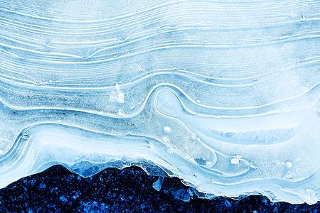 Closeup shot of winter ice texture