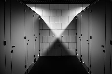 white comfort room cubicle doors