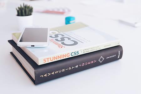 two hardbound books