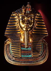 gold pharaoh headbust