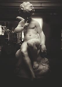 cherub statue photograph