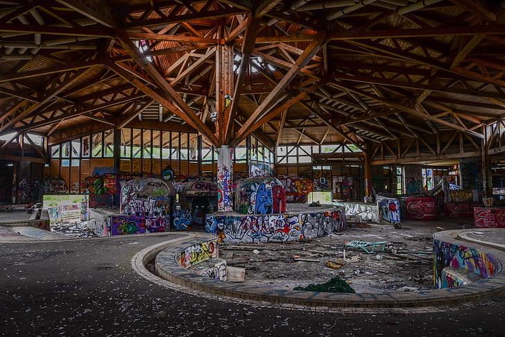 building graffiti interior