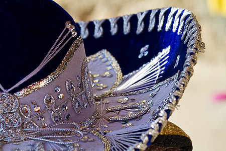 purple and blue sombrero