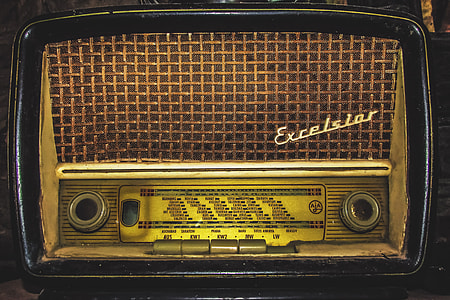 An old retro vintage radio