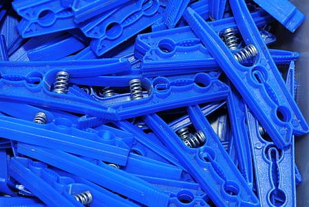 blue plastic cloth clip lot