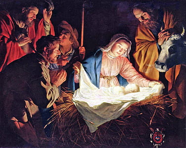 The Nativity painting