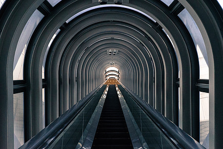 Escalator stairs captured in Osaka, Japan