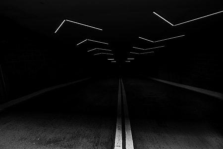 underpass asphalt road