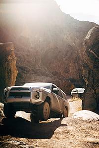 silver Toyota Land Cruiser