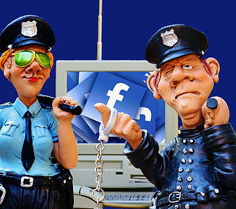 police man and woman illlustrations