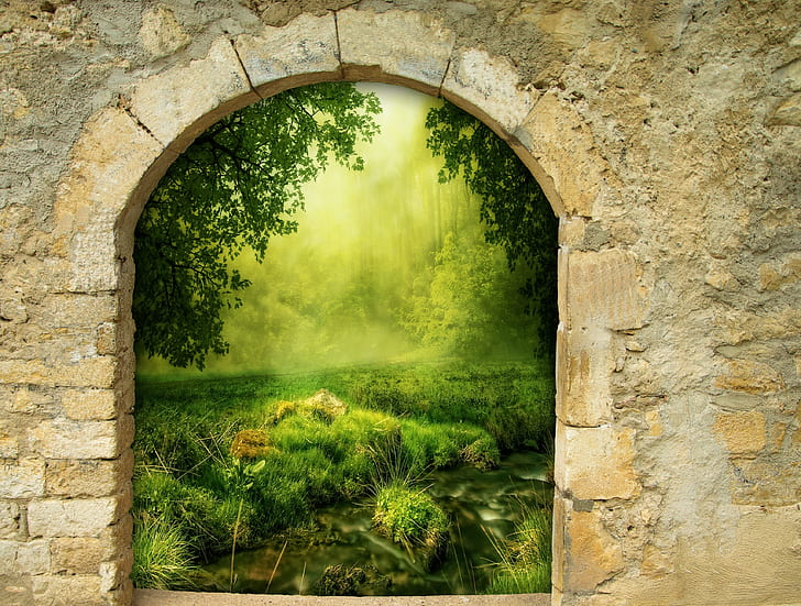 Royalty-Free photo: Green plants and trees painting | PickPik