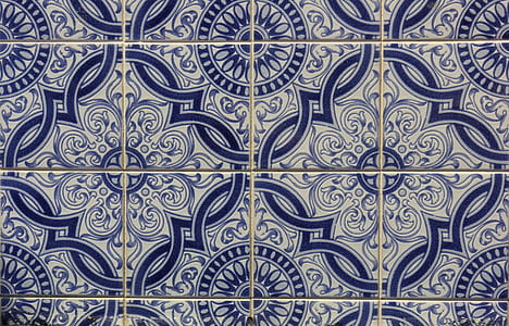 white and blue ceramic tiles