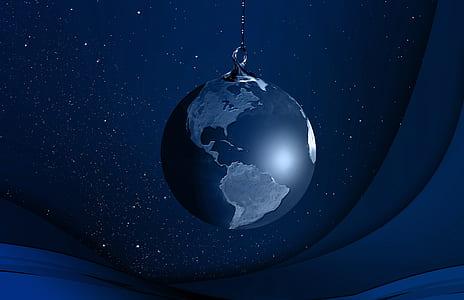 world globe chain