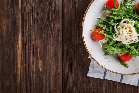 Overhead shot of fresh salad