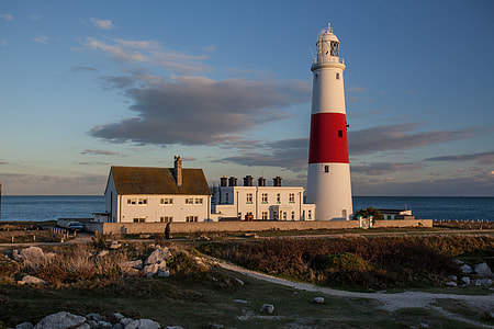 Lighthouse at Portland, Dorset, England