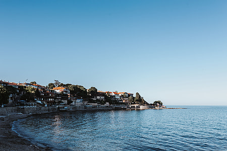 Coast in old city of Nessebar, Bulgaria