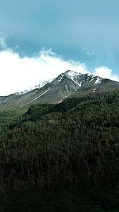 landscape photography of mountain peak under blue sky