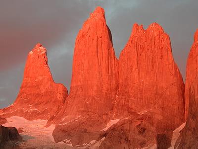 orange rock formation during golden hour