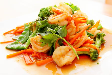 sweet & sour shrimp dish